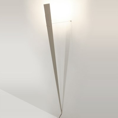 Minimalist gray 'Torchere' floor lamp by Gilles Derain for Lumen, 1980s
