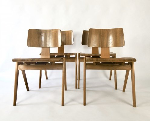 Set of 4 Hillestak dining chairs by Robin Day for Hille, 1950s