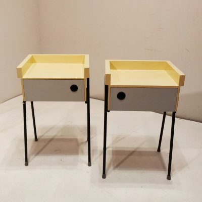 Rare nightstands by Rob Parry for DiCo, 1956