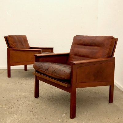 Vintage Capella lounge chairs by Wikkelsø for Eilersen, 1960s