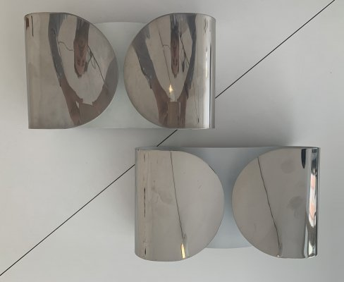 Pair of old production 'Foglio' wall lights by Tobia & Afra Scarpa for Flos