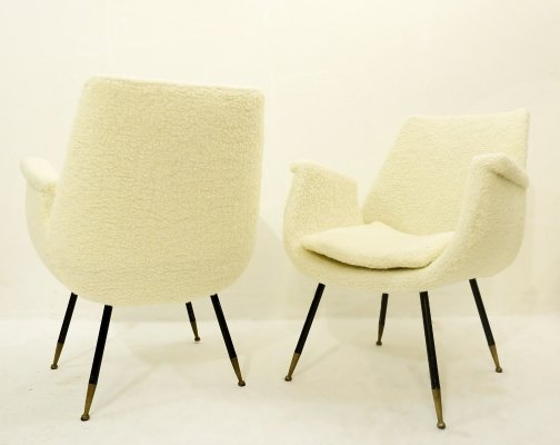 Pair of Small Italian chairs by Gastone Rinaldi For Rima