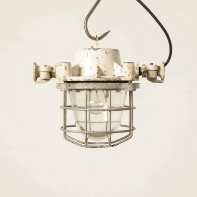 White Bull light with cage