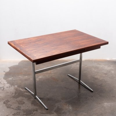 Rosewood expandable dining table, 1960s