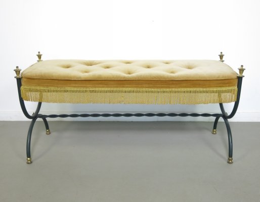 Two seater bench by Maison Jansen, 1950's