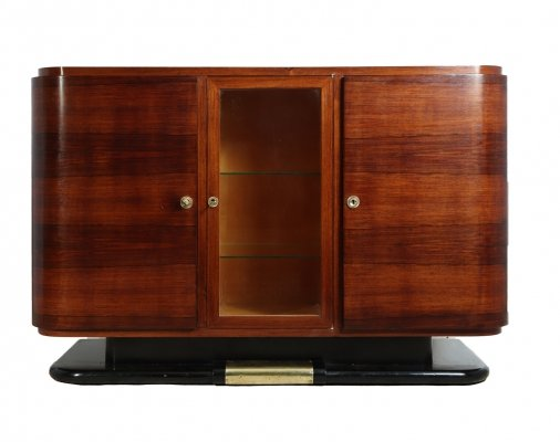 French Art Deco Sideboard in Rosewood, c1930