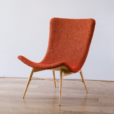 Mid Century TV Chair by Miroslav Navratil 1959