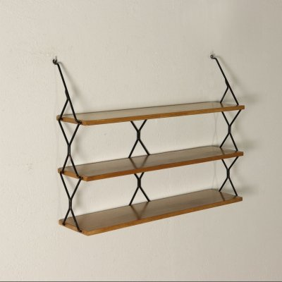 1950s Wall Shelving Unit by Isa