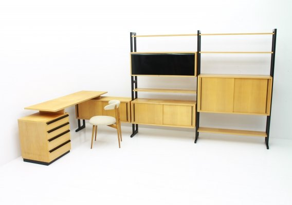 Very rare Office with Freestanding Shelf & Desk by Alfred Altherr, Switzerland 1955
