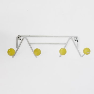 Yellow coat rack from the 1960s-1970s