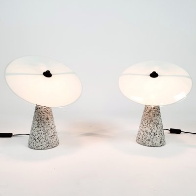 Set of 2 Post Modern Terrazzo 'Eon' table lamps by IKEA, Sweden 1993