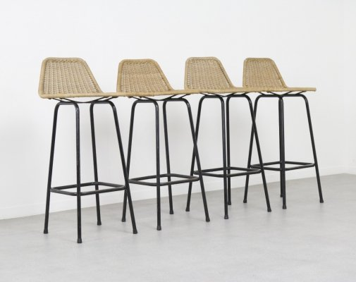 Set of 4 stools by Dirk van Sliedregt for Rohé Noordwolde, 1960s