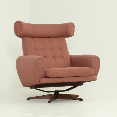 Danish Wing Lounge Chair, 1960's