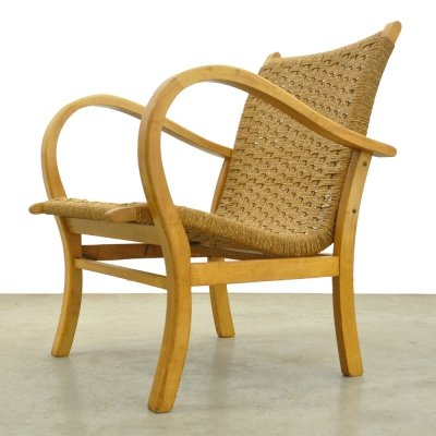 Beech wood armchair by V&D department store, 1960s