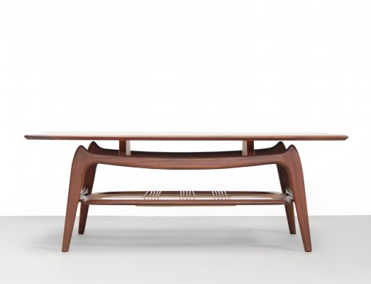 Organically designed coffee table by Louis van Teeffelen for WeBe, 1960s