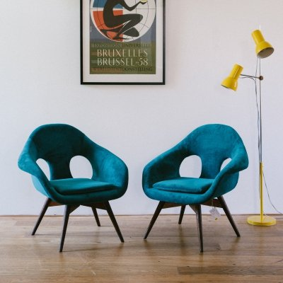 2 x Miroslav Navrátil arm chair, 1960s