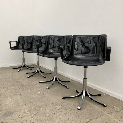 Vintage Modus office chairs by Osvaldo Borsani for Tecno, Italy 1970s