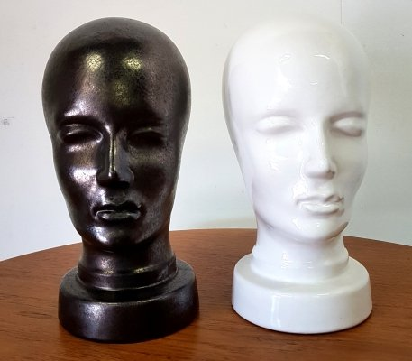 Ceramic head model 701 hat stand, West Germany 1960s