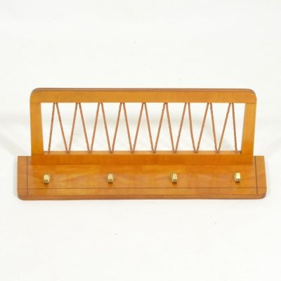 1970s Vintage Wooden Coat Rack