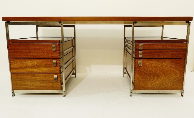 Desk by Jules Wabbes for Foncolin, Belgium 1957