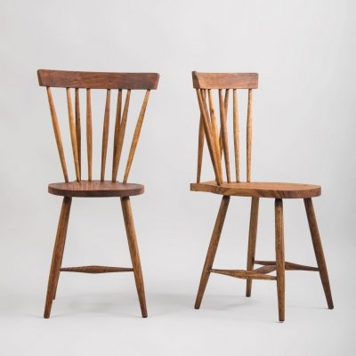 Pair of Mid-Century Teak Dining Chairs, 1950s