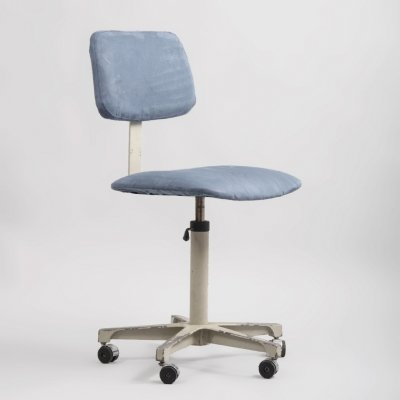 Industrial Steel & Alcantara Swivel Chair from Levira, 1970s