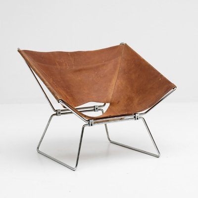 Pierre Paulin original leather Annau chair