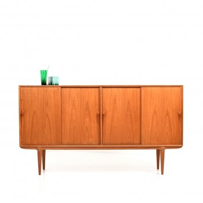 Danish Teak Highboard by Gunni Omann