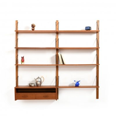 Mid Century Danish Teak Wooden Shelf System