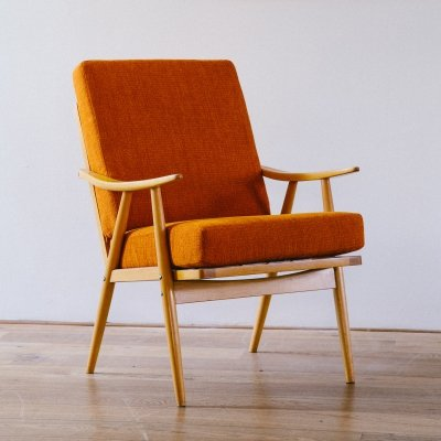 2 x Cigar arm chair by TON, 1960s