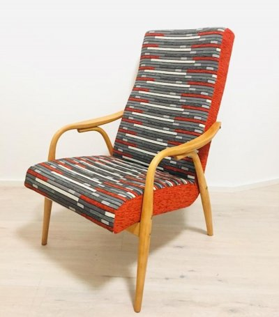 2 x arm chair by Antonin Šuman for Ton N. P. Bystřice pod Hostýnem, 1960s