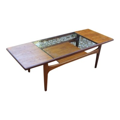 Classic G-PLAN vintage teak & glass coffee table, 1960s