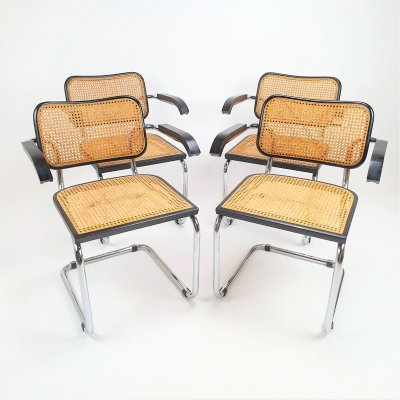 Set of 4 Marcel Breuer S64 Thonet Dining Chairs, 1970s