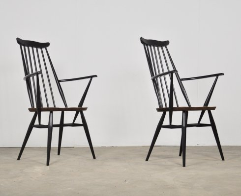 Pair of Ercol 'goldsmith' chairs, 1960s
