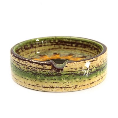 Enameled ceramic 'Sahara' ashtray by Aldo Londi for Bitossi, 1960s
