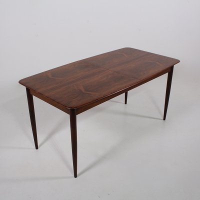 Rosewood folding extendable dining table, 1960s