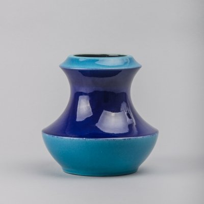 Blue Fat Lava Vase from Steuler, 1970s