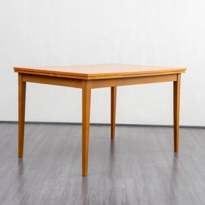 Classic 1960s extendable dining table in cherrywood