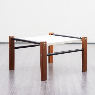 Minimalist 1970s coffee table with mixed materials
