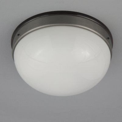 Vintage Czech white opaline glass ceiling lights