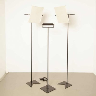 Swisslamps International Zurich floor lamp with two standing reflector screens
