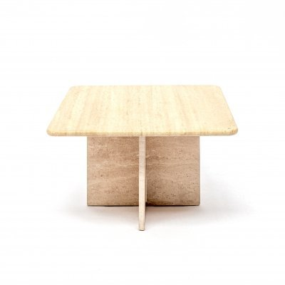 Travertine marble coffee (side) table, 1970s