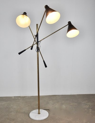 Adjustable 3-Arm Floor Lamp by Stilnovo, 1950s