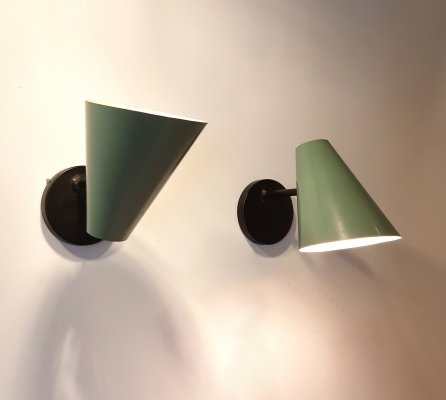 Pair of Jacques Biny wall lamps, 1950s