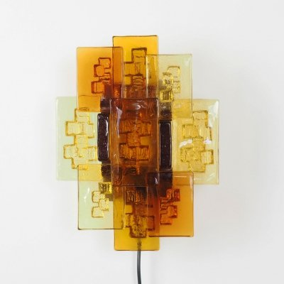 Glass wall lamp by Svend Aage Holm Sorensen, 1960's