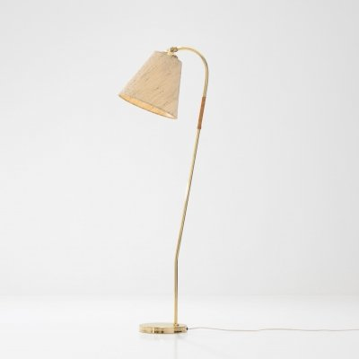 Idman Oy Brass floor lamp by Paavo Tynell, Finland 1950s