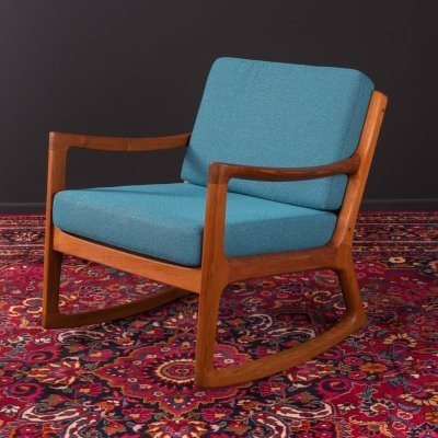 Danish rocking chair by Ole Wanscher for Cado, 1960s