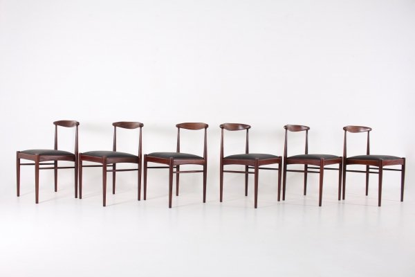 Set of 6 dining chairs, 1950s