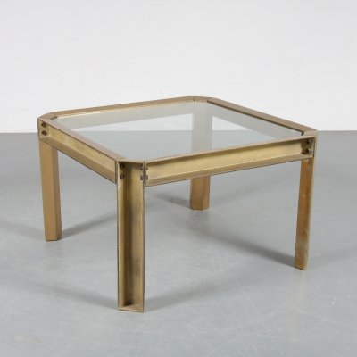 Heavy brass coffee table by Peter Ghyczy for Ghyczy, 1970s