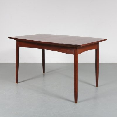 Oval teak dining table, Netherlands 1950s
